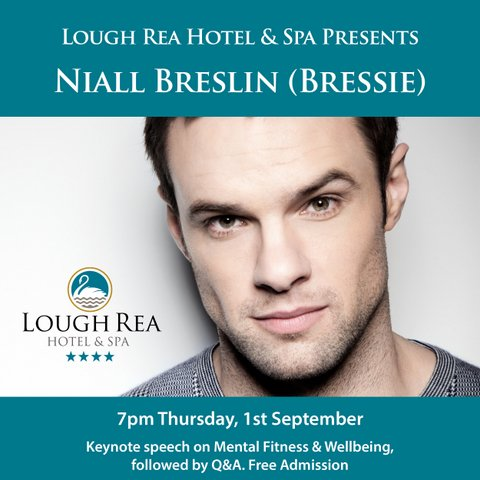 The Loughrea Hotel and Spa Presents Niall Breslin ( Bressie) on Thursday the 1st of September at 7pm.